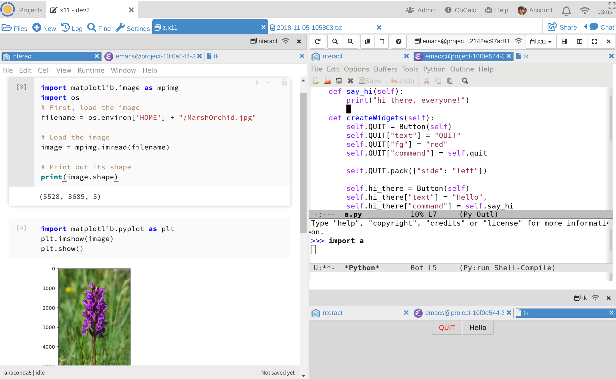 CoCalc brings collaborative persistent graphical Linux applications